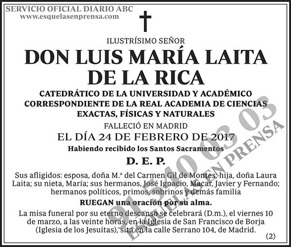 Luis María Laita de la Rica